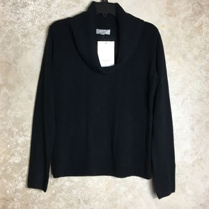 NWT Carolyn Taylor Small Black Cowl Neck Sweater